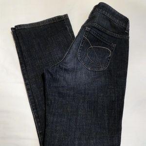 Chico's Platinum Dark Wash Boot Cut Jeans - Short